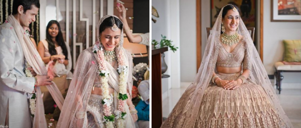 This Bride Did Her Own Makeup & Mehendi For Her Intimate Ghar Ki Shaadi!
