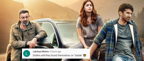 In Less Than 24 Hours, Alia Bhatt's Sadak 2 Trailer Becomes The Most Disliked On YouTube