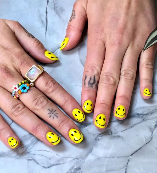 The smiley nail manicure should be on your to-do list
