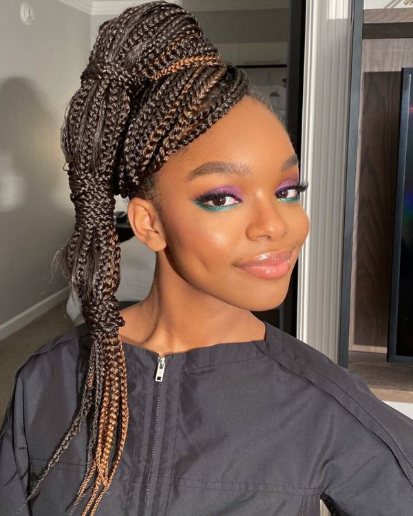 The two-toned eyeshadow is said to be a Fall 2020 hit