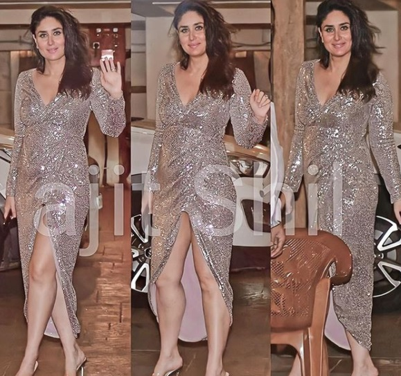 Kareena Kapoor Khan Steps Out In A Sequinned Gown