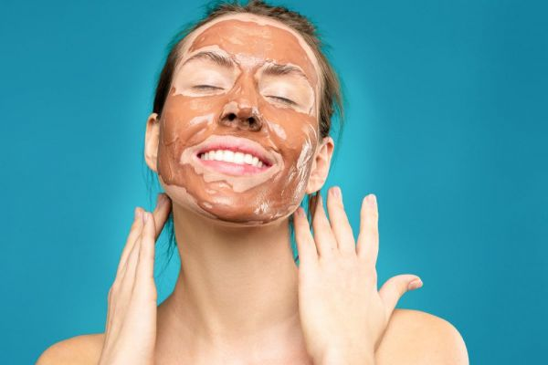 Woman With Clay Mask