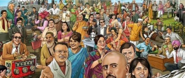 Only A True TV Fanatic Will Know All The 58 Characters This Painting Has!