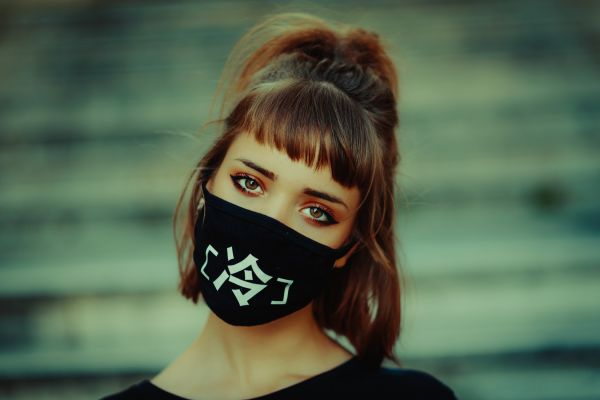 Girl Wearing Face Mask