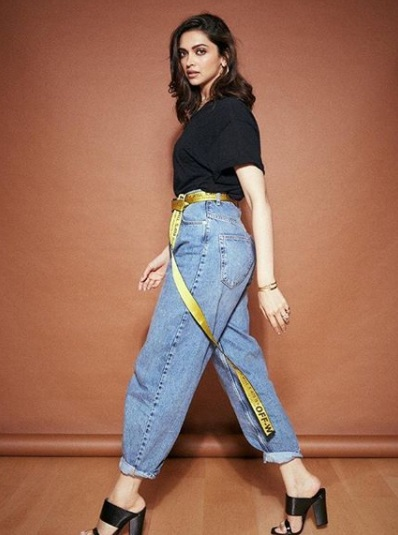 trying out jeans
