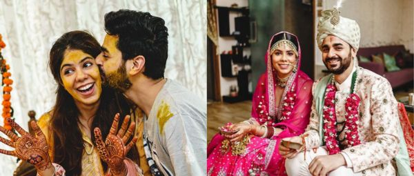 This Couple Exchanged Face Masks Along With Varmalas In The Cutest At-Home Wedding Ever