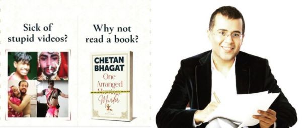 Chetan Bhagat Promotes New Book With Transphobic Imagery & It's Time He's Held Accountable