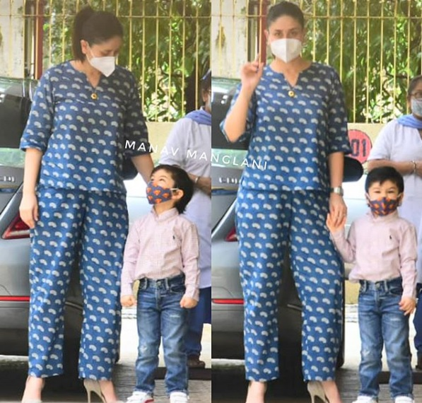 Kareena Kapoor Khan on an outing with son Taimur Ali Khan