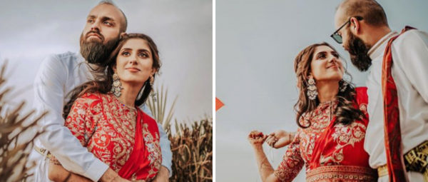 This Fashion-Forward Couple Chose Unique Outfits For Mehendi & We're Totally Loving Them!