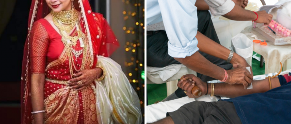 Bride Sets Up Blood Donation Camp For COVID-19 Patients On Wedding Eve & We're So Inspired