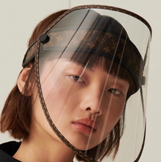 LV Face shield for $961 by Louis Vuitton
