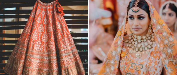 Shed The Red: These Orange Bridal Lehengas Deserve Your Attention!