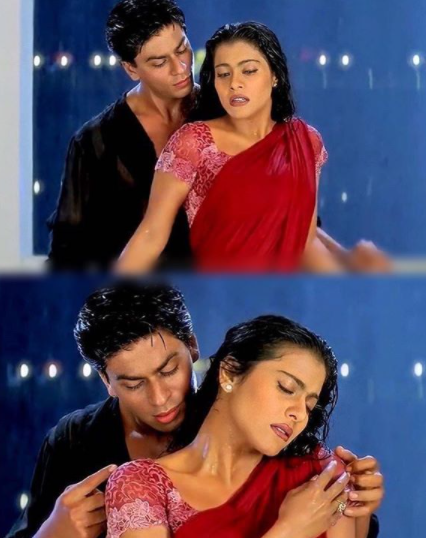 Kuch Kuch Hota Hai- Kajol in a saree and attention to blouse