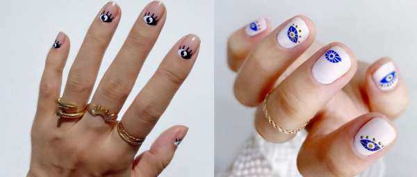 Bid Adieu To Bad Vibes With This New Eye-Catching Nail Art Trend