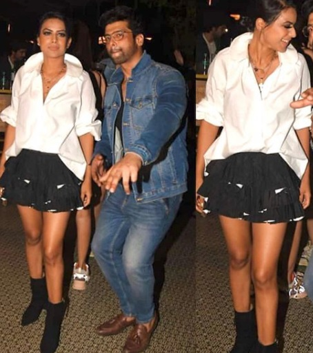 Nia Sharma in ankle length boots
