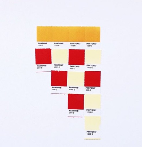 A layout by Pantone