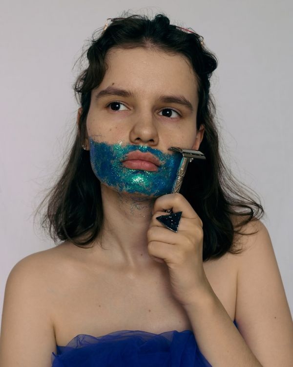 Shaving Face Women