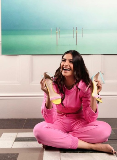 Sonam Kapoor in a pink Rlaph & Russo outfit
