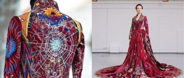 This Unique Project Had An Embroidered Red Dress Travelling Across The World For 10 Years!