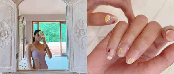 #FlowerPower: Athiya Shetty's Minimalistic Mani Makes Us Wish It Was Summer All Year Long