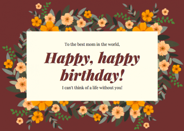 Unique birthday messages for mother