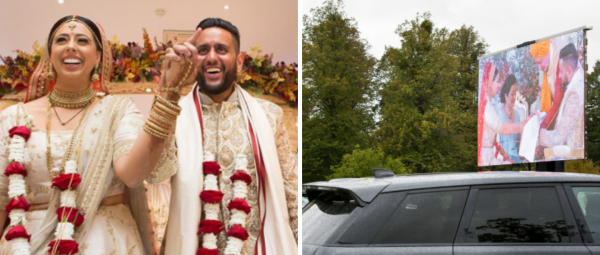 Buggy Baraat To Waiters On Segways, This Couple's 'Drive-In Shaadi' Was So Unique