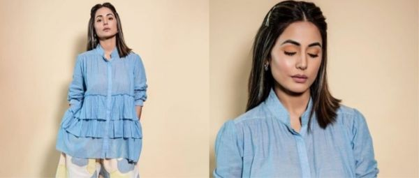 Ditch Your Pyjamas 'Coz Hina Khan's Latest Look Doubles Up As A Fab WFH Outfit In Under 2K