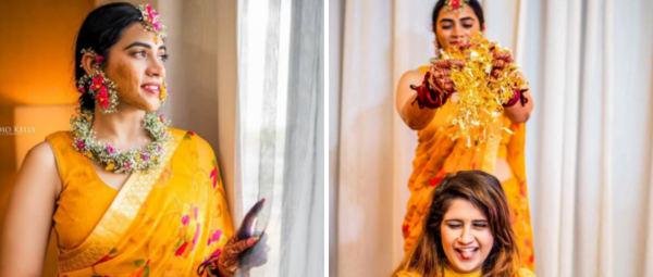 Dressed In A Yellow Saree & Baby's Breath Jewellery, This Bride Is Winning Hearts
