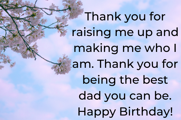 best deep birthday wishes for dad from son