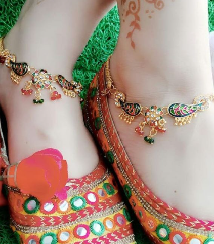 beautiful anklet designs for brides