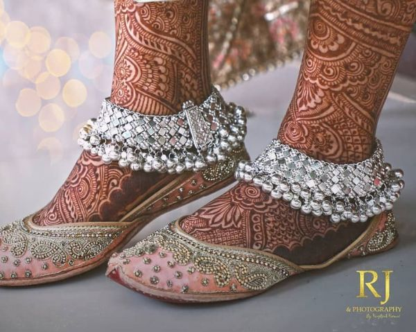 Gorgeous and heavy  payal designs for brides