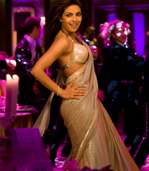 Priyanka Chopra's costumes in Dostana- Manish Malhotra saree