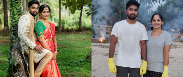 This Newly-Wed Couple Ditched Their Honeymoon Plans To Clean A Beach In Karnataka