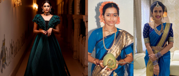 This Bride Wore Her Mom's 32-Year-Old Saree For Her Wedding Function & Stole The Show