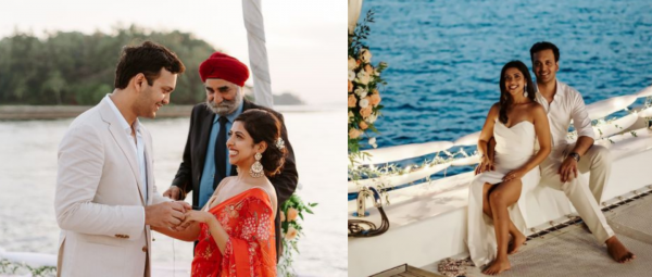 This Couple Planned An Intimate Shaadi On A Yacht & We Can't Get Over Their Dreamy Pics