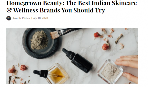 Indian skincare and wellness brands