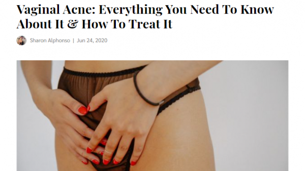 how to treat vaginal acne