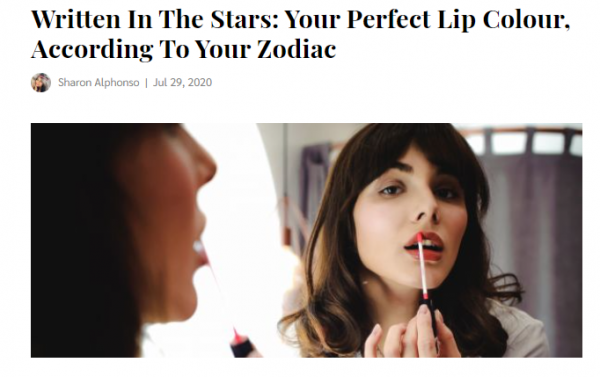 Lipstick shade for your zodiac