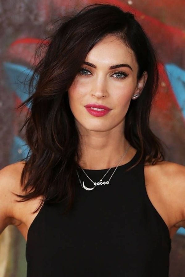 Layers medium length hairstyle for oval face women