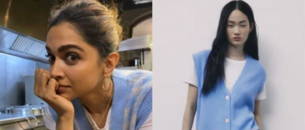 Deepika Padukone Wore A Budget Sweater Vest From Zara So Naturally, We Found The Exact One