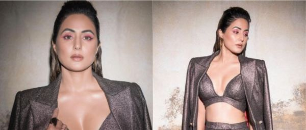 Hina Khan Took The Plunge With A Metallic Party Outfit And Boy, It's An Absolute Stunner!