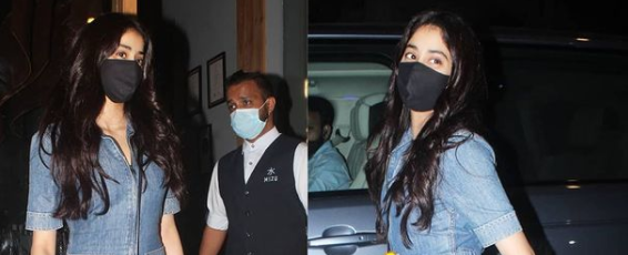 Woah, Janhvi Kapoor Just Wore A Chic OOTN & We Never Thought Of Double Denim Like This!