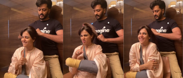 This Video Of Riteish Deshmukh Helping Out Genelia At Her 'Worst' Is Winning Our Hearts!