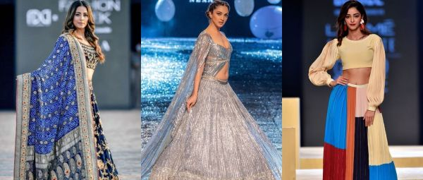Lakme fashion week celebrities stunning looks, Show Stoppers, Hina Khan, Ananya Panday