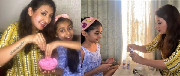 Juhi Parmar made holi colors at home with daughter shares recipe