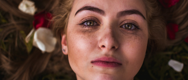 pretty girl with freckles