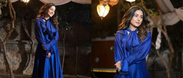 Embracing The Blues! Hina Khan Makes A Fashionable Re-Entry To Insta & We Are Awestruck