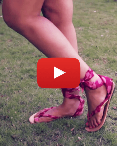 #DIY: Make Your Own Fabulous Roman Sandals in 5 Minutes!