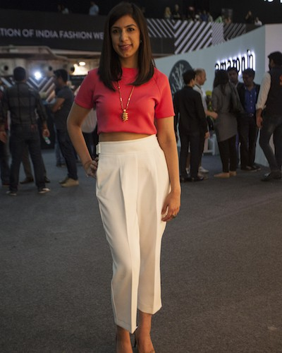 Anjali Batra at Amazon India Fashion Week AW15