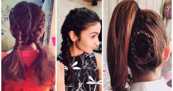 Super cute hairstyles of Alia Bhatt for college going girls